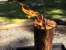 燃えるスウェーデントーチの画像